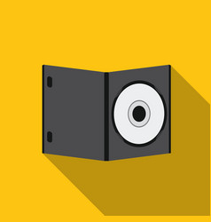 Dvd with movie icon in flat style isolated on vector