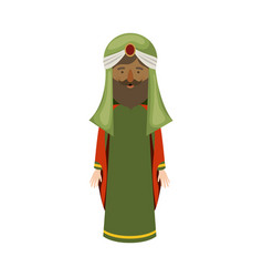Wiseman cartoon of happy epiphany day design vector