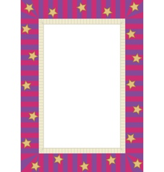 Frame with stars vector