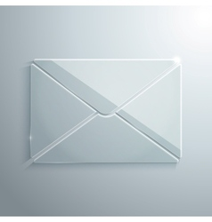 Glass icon of envelope vector