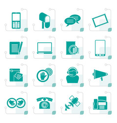 Stylized contact and communication icons vector
