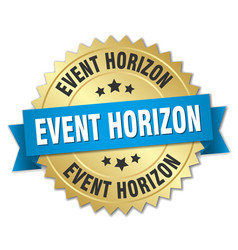 Event horizon round isolated gold badge vector