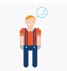 Man icon with speech balloon vector