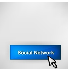 Social network button vector