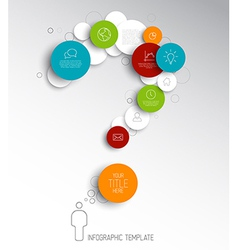 Question mark - light abstract circles infographic vector