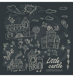 Little castles vector