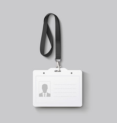 id badge with lanyard vector image
