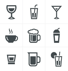 Drink Icons Set Design vector image