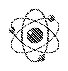 Atom sign on white vector