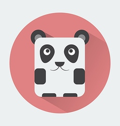 Panda baby animal icon vector