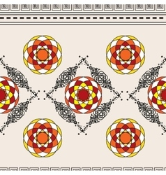Horizontal seamless pattern with ornament vector