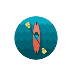 Kayak icon canoe  summer vacation vector