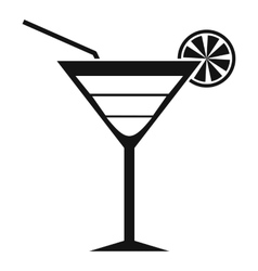 Beach cocktail icon simple style vector