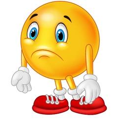 Cartoon emoticon sad vector