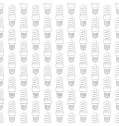 Contour energy saving lamp pattern vector image vector image