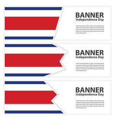 Costa rica flag banners collection independence vector