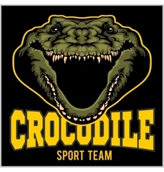 Crocodile mascot for a sport team vector