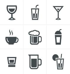 Drink Icons Set Design vector image