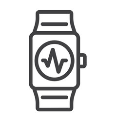 fitness tracker line icon fitness and sport vector image