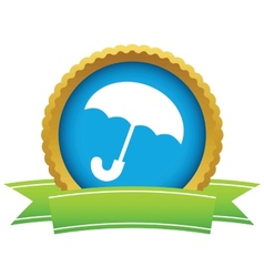 Gold umbrella logo vector