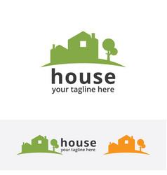 green home logo vector image vector image