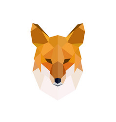 head of a red fox modern polygonal style vector image vector image