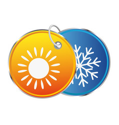 Heat and cold symbol vector
