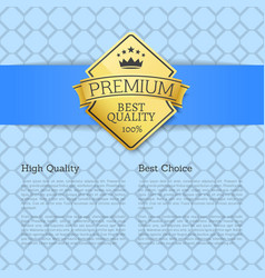 high quality choice golden label guarantee sticker vector image