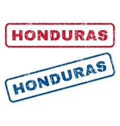 Honduras rubber stamps vector