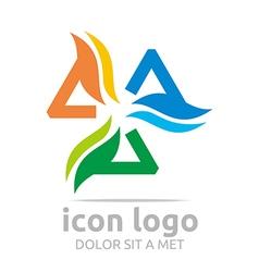Icon triangle shape design symbol abstract vector