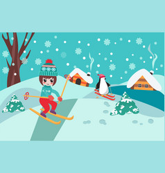 Merry christmas collection background with cute vector