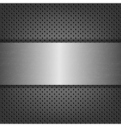 Metal Background With Metal Plate vector image vector image