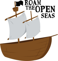Open Seas vector image
