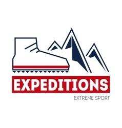 Outdoor sport adventure vector image