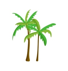 Palm tree isolated vector image