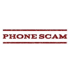 Phone scam watermark stamp vector