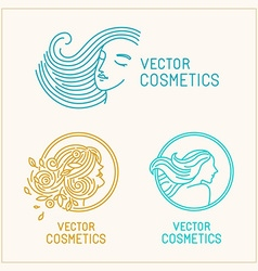 set of logo design templates and abstract concepts vector image