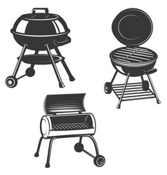Set of the grills isolated on white background vector