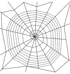 Spider web spiral orb web type Halloween vector image vector image