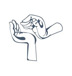 Symbolizing respectful attitude warmth kindness vector