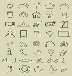 thin icons3 vector image vector image