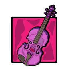 violin clip art vector image
