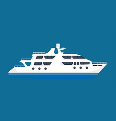 white luxurious passenger liner isolated on blue vector image vector image