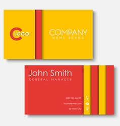 Business cards templates in the style of the vector