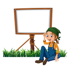 Woman and frame template vector
