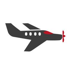 passenger plane silhouette isolated on white vector image