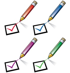 pencils and checklist vector image