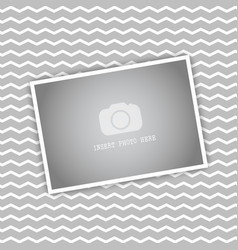 Blank picture on chevron stripes background vector