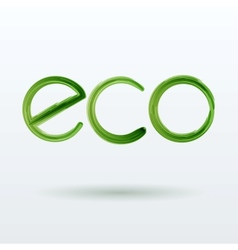 Eco Label With Shadow on White Background vector image