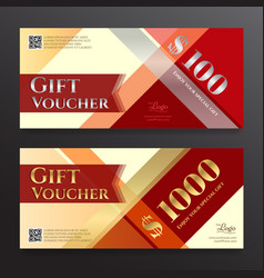 Elegant gift voucher or gift card on colorful vector